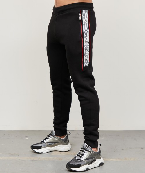 Rivigo Linear Print Tape Fleece Pant