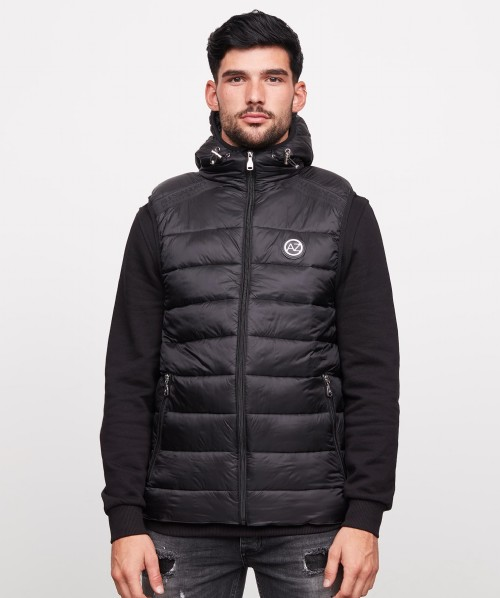 Lazarri Taped Full Zip Hooded Gilet