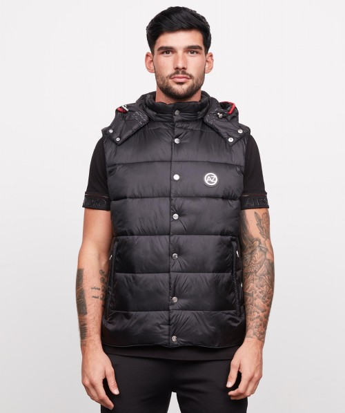 Sezaro Premium Button Hooded Gilet
