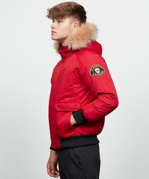 Junior Abelli Fur Trim Bomber Jacket