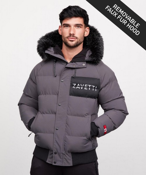 Cervati Fur Hooded Bomber Parka Jacket
