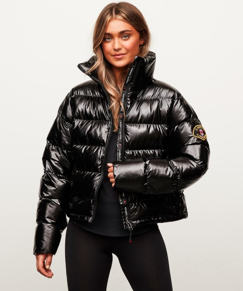 Womens Liliana Wet Look Puffer Jacket